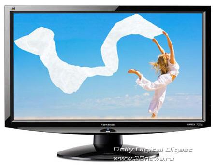 """Фото Монитор LCD 24 """" ViewSonic V3D241wm-LED."""