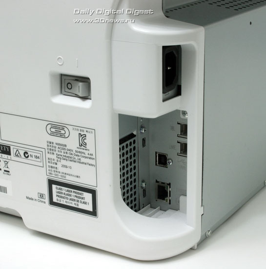 OKI MC160n. Коммуникационные разъемы