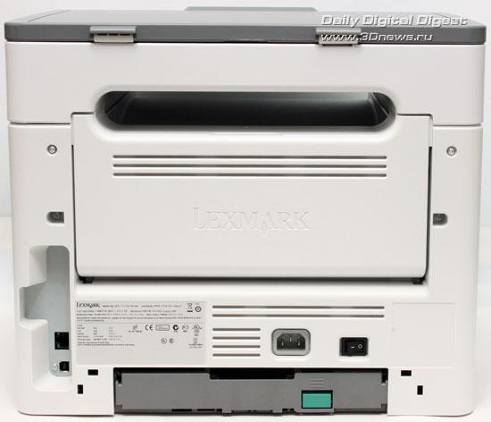 Lexmark x203n. Вид сзади