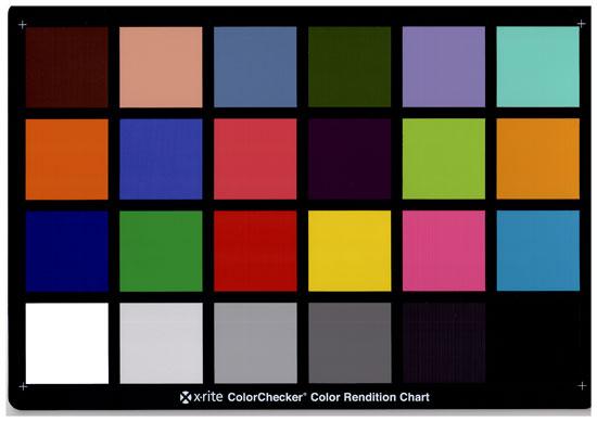 Lexmark x203n. Калибровочная таблица Munsell Color Checker