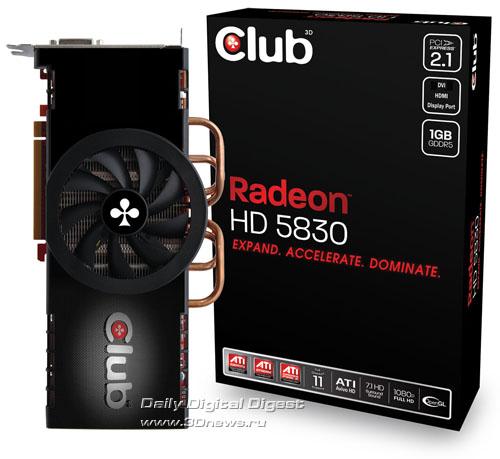 Club 3D Radeon HD 5830 1GB GDDR5