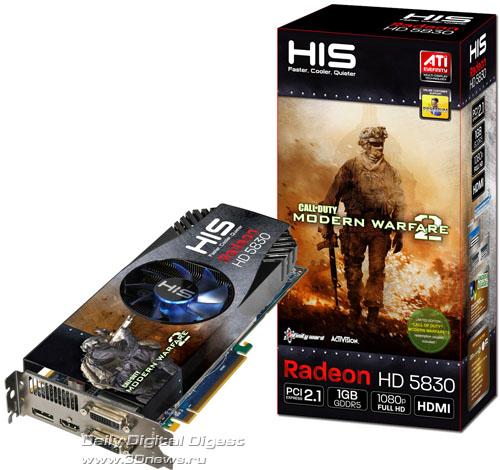 HIS Radeon HD 5830 iCooler V 1GB GDDR5 Call of Duty: Modern Warfare 2 Game Edition