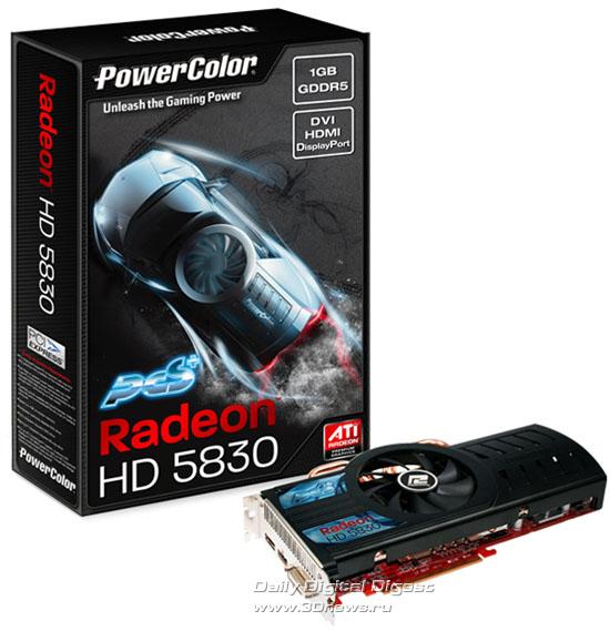 PowerColor PCS+ Radeon HD 5830 1GB GDDR5