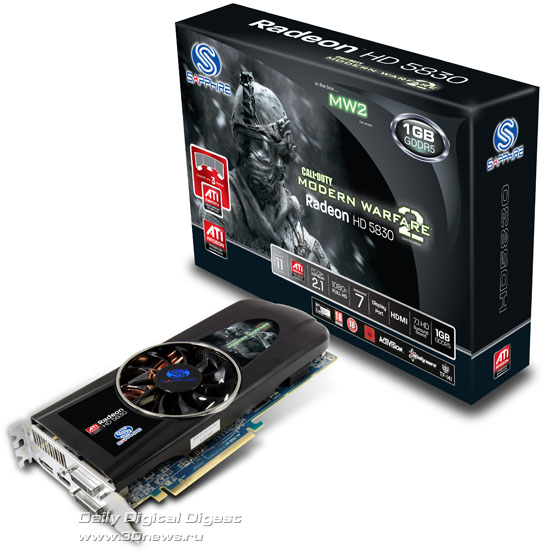 Sapphire Radeon HD 5830 1GB GDDR5 Game Edition
