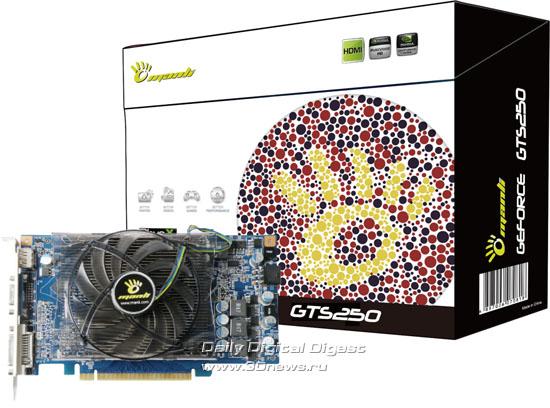 Железо.  Компания Manli в ближайшее время выпустит видеокарту GeForce GTS 250 с тихой системой охлаждения.  Новости.
