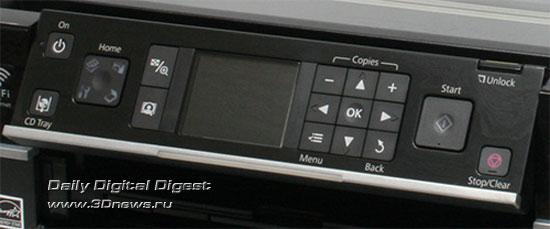 Epson Stylus Photo TX710W. Панель управления