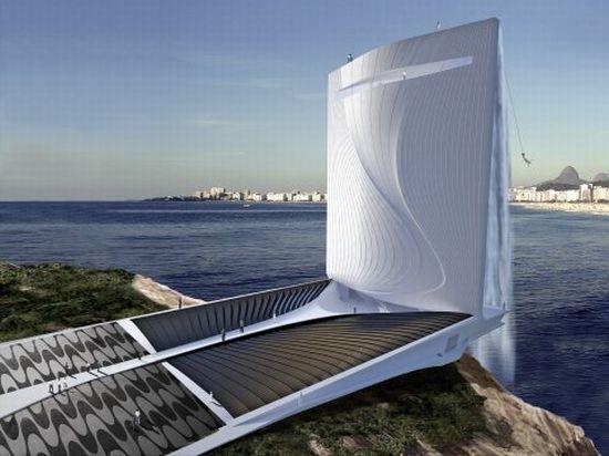 Башня-водопад обеспечит электричеством Олимпийские игры 2016