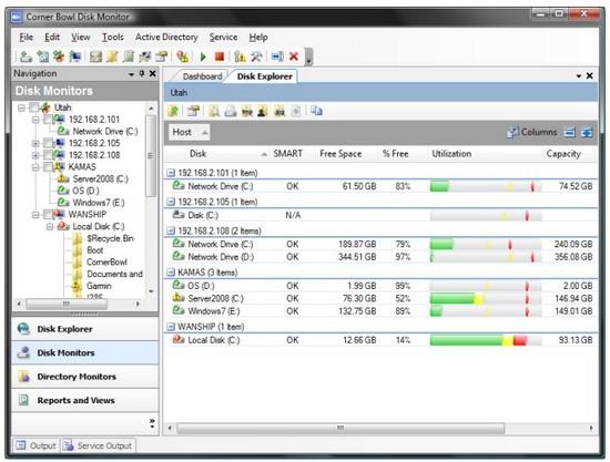 Corner Bowl Disk Monitor 2010 10.0.0.92: жесткие диски под контролем