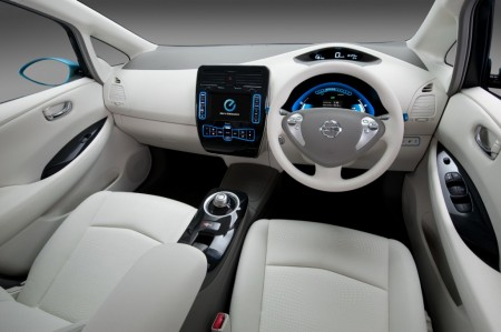 2010 Nissan Leaf Interior View.