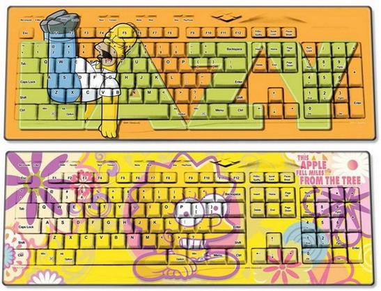 Желтая мультяшная семейка из Спрингфилда добралась до компьютерной периферии.  Обычная проводная клавиатура и не...