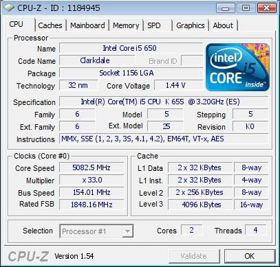 Core i5-655K на воздухе покорил 5082 МГц 1