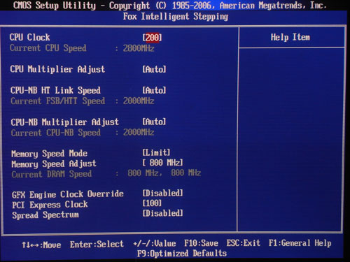 Foxconn A88GM Deluxe функции разгона2