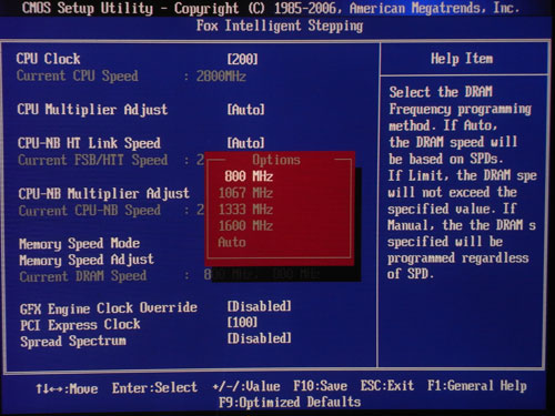 Foxconn A88GM Deluxe частота памяти