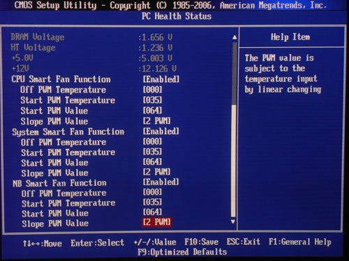 Foxconn A88GM Deluxe системный мониторинг 2