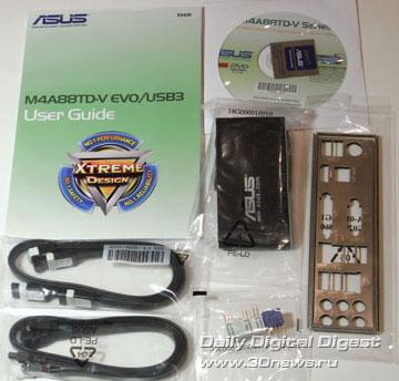 ASUS M4A88TD-V EVO/USB3 комплектация