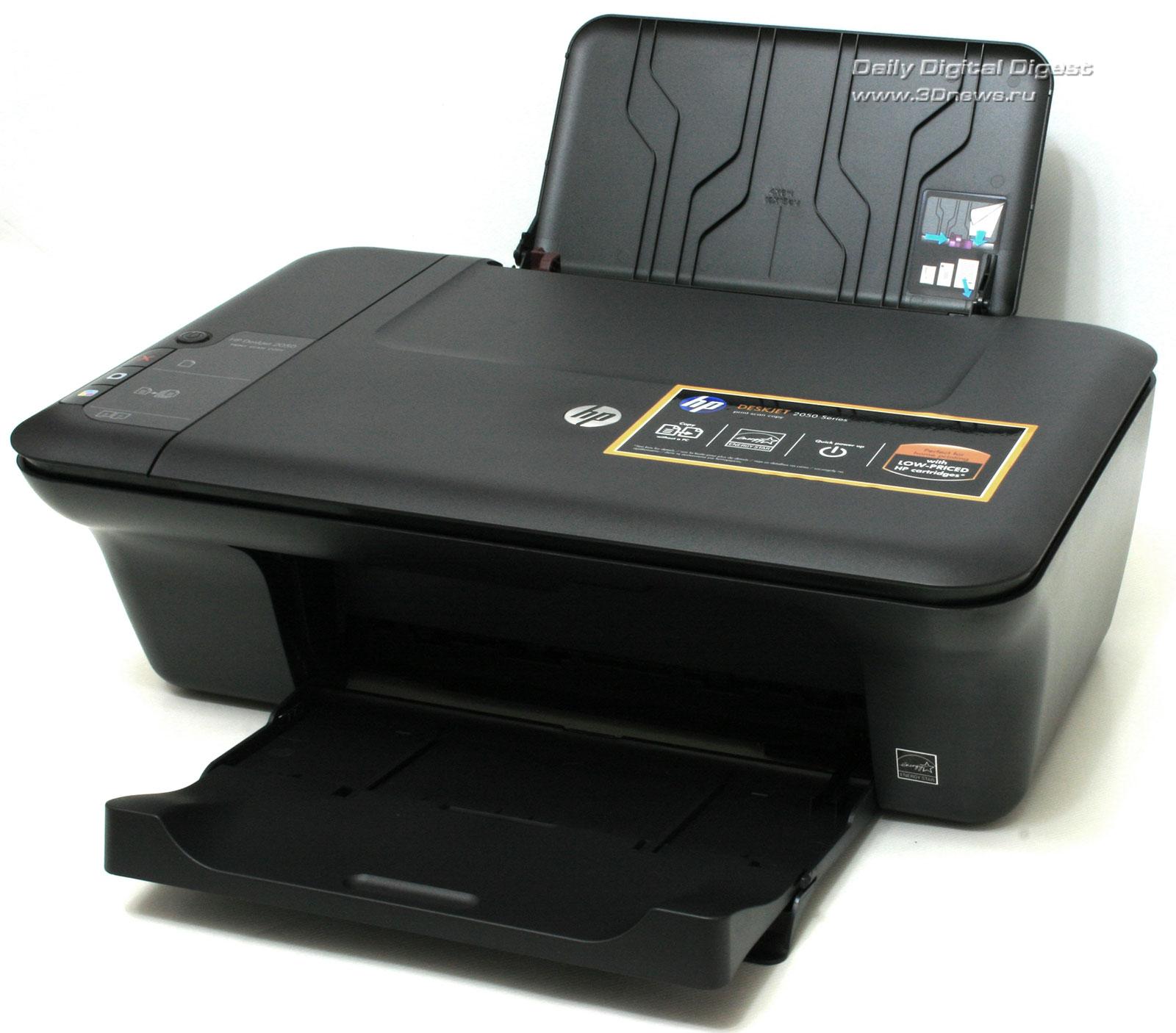 Большинство наиболее доступных моделей МФУ компактные и лёгкие, с минимумом дизайнерских изысков, и HP DeskJet 2050...