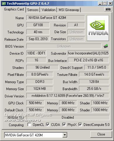 GeForce GT 420M