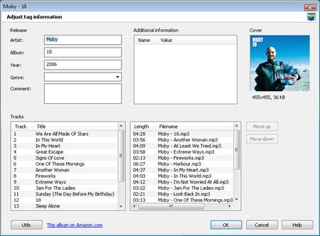Mp3tag: организация аудио-коллекции