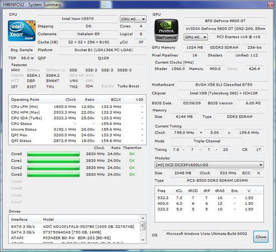 HWiNFO32 3.71: подробные данные о ПК