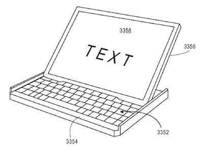 Apple запатентовала планшет с клавиатурой