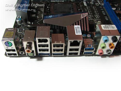 MSI P67A-GD65 задняя панель