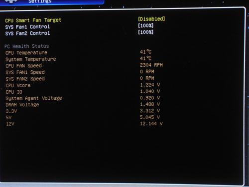 MSI P67A-GD65 системный мониторинг 1