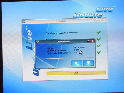 MSI P67A-GD65 Live Update