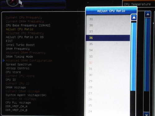 MSI P67A-GD65 множитель процессора