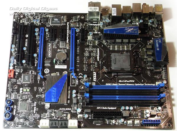 MSI P67A-GD65 плата