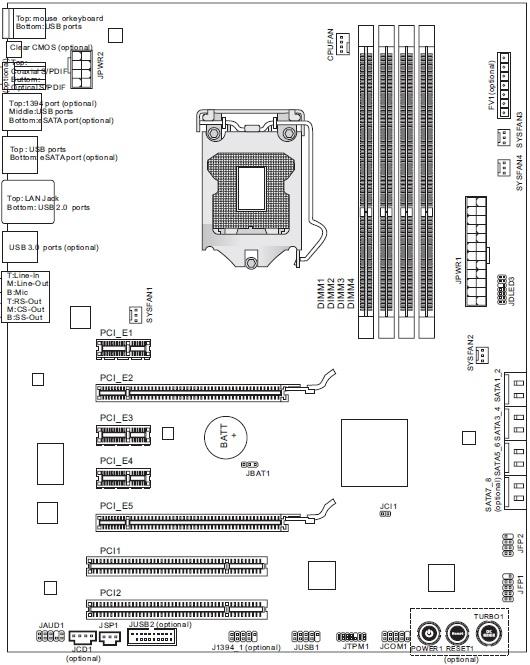 MSI P67A-GD65 схема