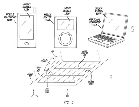 Apple разрабатывает новый тип сенсора и патентует его.
