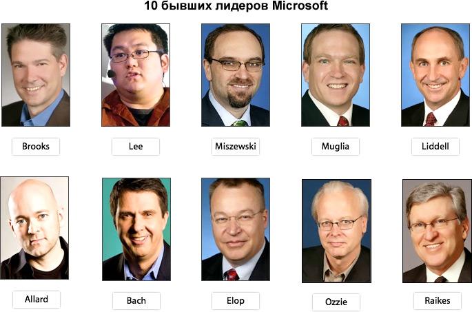 10 бывших лидеров Microsoft