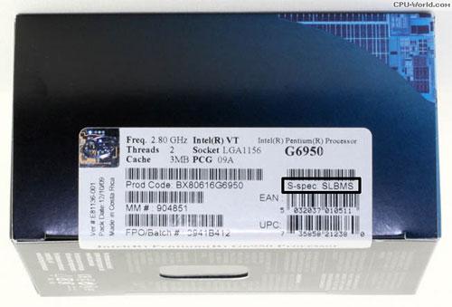 Intel переводит коробочные версии Pentium G6950 на степпинг K0 63