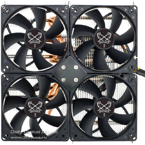 Кулер Scythe SUSANOO: 12 тепловых трубок, 3 радиатора, 4 вентилятора Scythe_SUSANOO_Pic_05