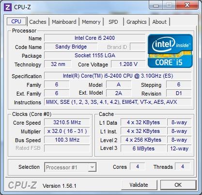 ASUS P8P67-M Pro штатная частота