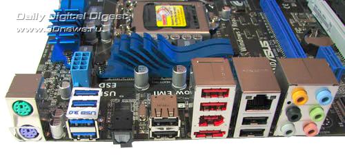 ASUS P8P67-M Pro задняя панель