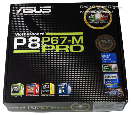 ASUS P8P67-M Pro упаковка