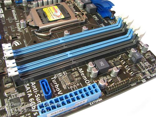 ASUS P8P67-M Pro DIMMs