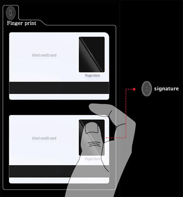 Кредитная карта для слепых