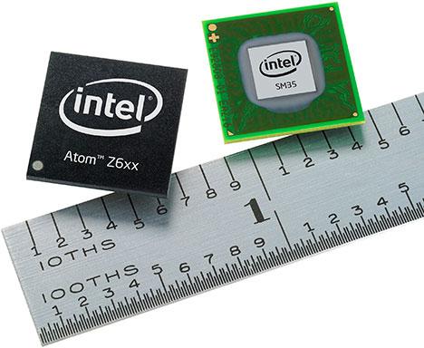 Процессор Intel Atom Z6xx CPU и чипсет Intel SM35 Express