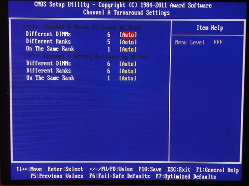 Gigabyte X58A-OC настройки памяти 2
