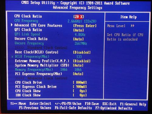 Gigabyte X58A-OC настройки разгона 2