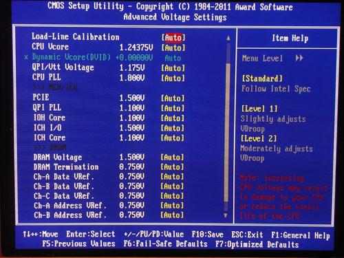 Gigabyte X58A-OC настройки разгона 3