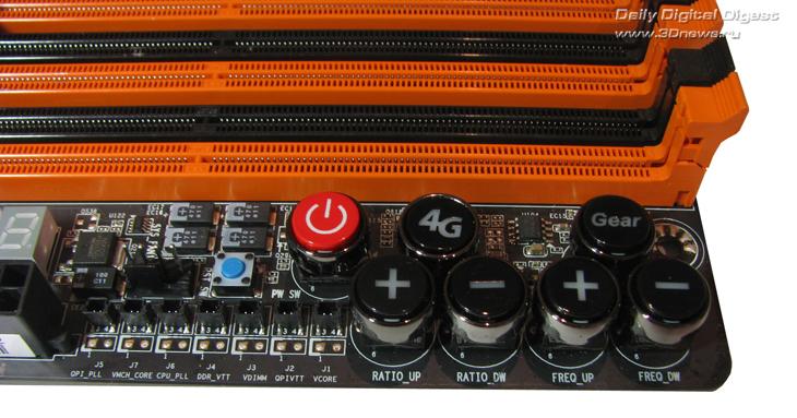 Gigabyte X58A-OC кнопки