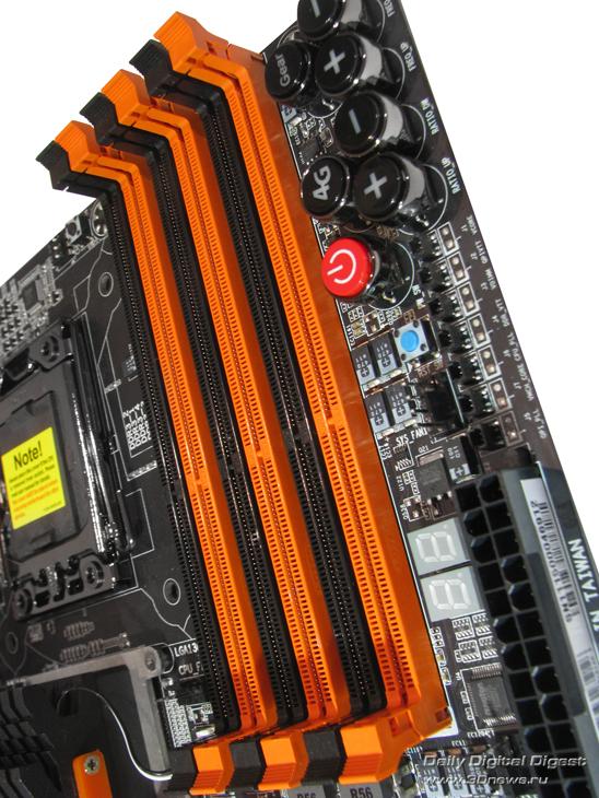 Gigabyte X58A-OC DIMMs