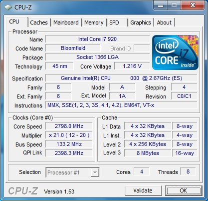 Gigabyte X58A-OC штатная частота