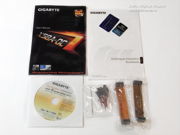 Gigabyte X58A-OC комплектация 1