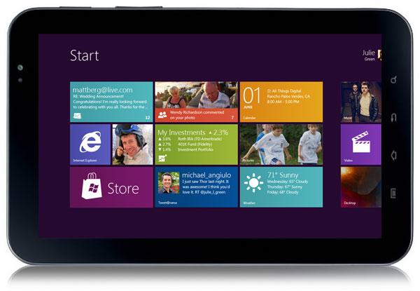 Иллюстрация планшета с Windows 8