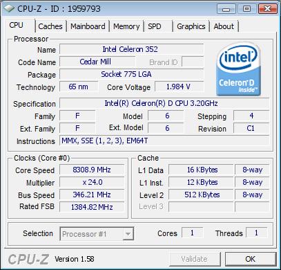Настольный процессор покоряет 8308 МГц