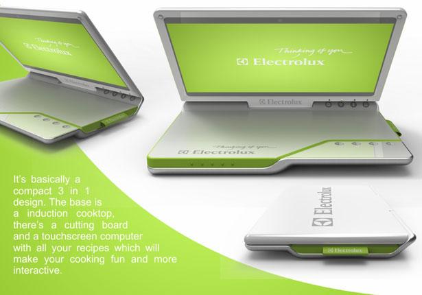 Electrolux Mobile Kitchen: кухня в стиле ноутбука